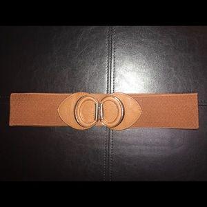 Vintage brown/gold  stretchy elastic